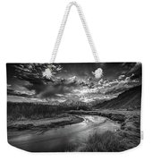 Sun Setting On The Owens River Weekender Tote Bag