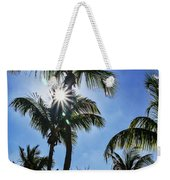 Sun Through Smathers Beach Palms Weekender Tote Bag