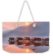 Sun Through Smoke At Mcdonald Weekender Tote Bag