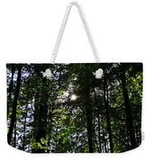 Sun Through Trees In Forest Weekender Tote Bag