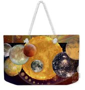 Sun With Planet Moons Weekender Tote Bag