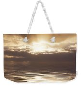 Sunburst Over Water Weekender Tote Bag