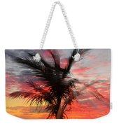 Sunburst Through Palm Tree Weekender Tote Bag