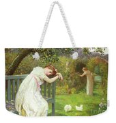 Sunday Afternoon - Ladies In A Garden Weekender Tote Bag