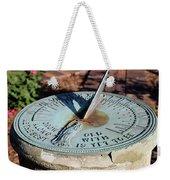 Sundial At Benjamin Harrison Home, Indianapolis, Indiana Weekender Tote Bag