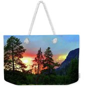 Sundown In Yellowstone Weekender Tote Bag