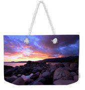 Sundown On The Rocks Weekender Tote Bag