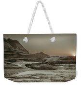 Sundown Over The Ocean Rocks Weekender Tote Bag