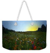 Sundown Wildflower Meadow Weekender Tote Bag