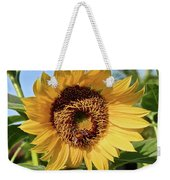Sunflower And Bee Weekender Tote Bag
