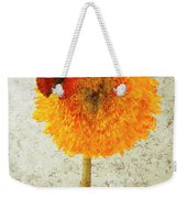 Sunflower And Red Butterfly Weekender Tote Bag