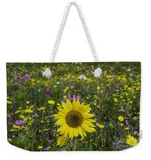 Sunflower And Wildflowers Weekender Tote Bag