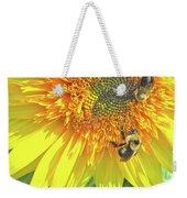 Sunflower Bees Weekender Tote Bag