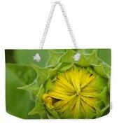 Sunflower Bud Weekender Tote Bag
