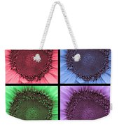 Sunflower Centered Color Collage 4 Weekender Tote Bag