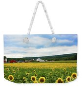 Sunflower Country Landscape  Weekender Tote Bag