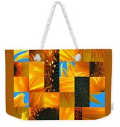 Sunflower Cut-up Weekender Tote Bag