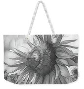 Sunflower Dawn Black And White Drawing Weekender Tote Bag