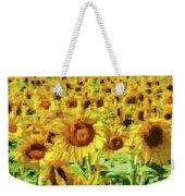 Sunflower Edges Weekender Tote Bag