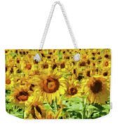 Sunflower Edges Weekender Tote Bag