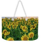 Sunflower Faces At Sunset Weekender Tote Bag
