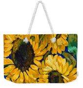 Sunflower Faces Weekender Tote Bag
