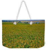 Sunflower Farm In Northwest North Dakota  Weekender Tote Bag
