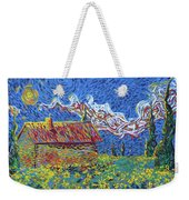 Sunflower House Weekender Tote Bag