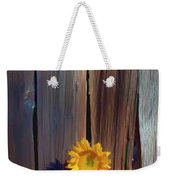 Sunflower In Barn Wood Weekender Tote Bag