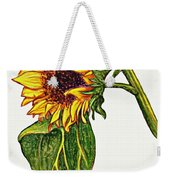 Sunflower In Gouache Weekender Tote Bag