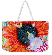 Sunflower In The Middle Weekender Tote Bag