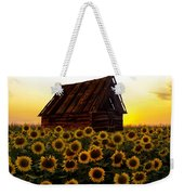 Sunflower Morning With Barn Weekender Tote Bag