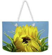 Sunflower Opening Sunny Summer Day 1 Giclee Art Prints Baslee Troutman Weekender Tote Bag