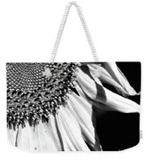 Sunflower Petals In Black And White Weekender Tote Bag