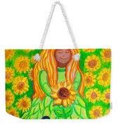 Sunflower Princess Weekender Tote Bag