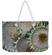 Sunflower Seed Heads Dried To Perfection Weekender Tote Bag