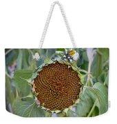 Sunflower Seedhead Weekender Tote Bag