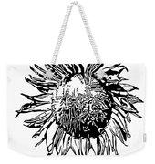 Sunflower Silhouette Weekender Tote Bag