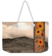 Sunflower Silo In Boulder County Colorado Sepia Color Print Weekender Tote Bag