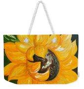 Sunflower Solo Weekender Tote Bag