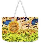 Sunflower Storm Weekender Tote Bag