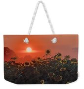 Sunflower Sundown Weekender Tote Bag