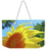 Sunflower Sunlit Art Print Canvas Sun Flowers Baslee Troutman Weekender Tote Bag