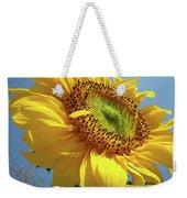 Sunflower Sunlit Sun Flowers 6 Blue Sky Giclee Art Prints Baslee Troutman Weekender Tote Bag