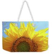 Sunflower Sunlit Sun Flowers Giclee Art Prints Baslee Troutman Weekender Tote Bag