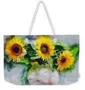 Sunflower Trio Weekender Tote Bag