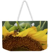 Sunflower With Grasshopper Weekender Tote Bag