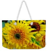 Sunflowers - Light And Dark Weekender Tote Bag