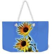 Sunflowers-5246-fractal Weekender Tote Bag