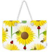 Sunflowers And Bees Weekender Tote Bag